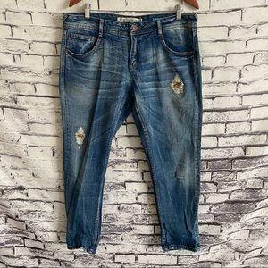 Zara Trafaluc Boyfriend Jeans SZ 10